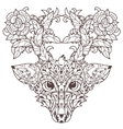 Hand drawn doodle outline deer head vector image