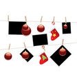 Christmas Stockings on Rope2 vector image