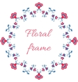 Indian or arabic style floral frame vector image