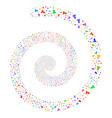 user fireworks spiral vector image