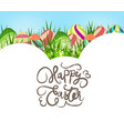 happy easter eggs colorful background vector image