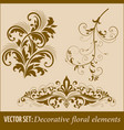 set of calligraphic and page decoration design vector image vector image