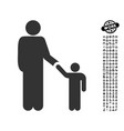 father with son icon with job bonus vector image