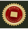 Star label Wyoming vector image vector image