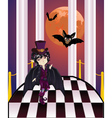 Vampire on Balcony vector image