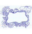 nature doodles vector image