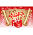 Greeting card for Valentines Day vector image