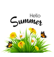 Happy summer holidays background with flowers and vector image vector image