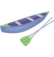 Blue and green canoe vector image vector image