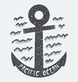 Anchor Pacific ocean vector image
