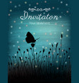 butterfly and flowers on sunset vector image