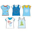 Christmas t-shirt set vector image