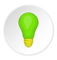 Eco light bulb icon cartoon style vector image
