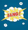explosion bang comics vector image