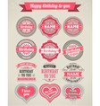 Set of 12 beautiful vintage frames with inscriptio vector image