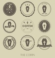 The vintage style of coffin business logo vector image