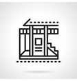 Vacation house black line icon vector image