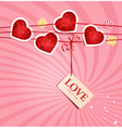 valentines love background vector image