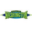 Washington The Evergreen State vector image