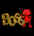 Boss - a demon vector image