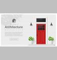 Elements of architecture front door background 2 vector image