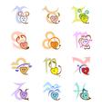 Zodiac signs looking as hearts and Zodiac symbols vector image