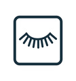 eyelash icon Rounded squares button vector image