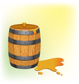 barrel with honey vector image