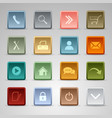 Colored set web square buttons template vector image