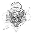 dragon head hand drawn sketch vector image