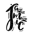 jazz music lettering composition inscription vector image