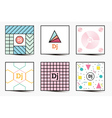 Set of Backgrounds with Modern Geometric Design vector image