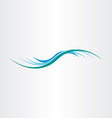 water wave element design icon vector image