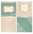 Vintage borders with lace pattern vector