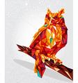 Owl bird geometric vector image vector image