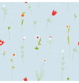 Floral pastel seamless pattern with small flowers vector image