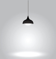 Black ceiling lamp on gray background vector image