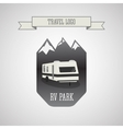 RV and caravan park logo badges Outdoor theme vector image