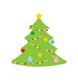 picture of christmas tree vector image vector image