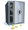open bank safe vector image