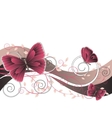 floral with butterflies vector image vector image