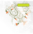 decorative grunge floral background vector image