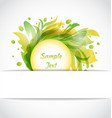 Eco Floral Transparent Frame vector image