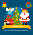 merry christmas composition vector image
