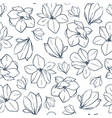 spring seamless pattern with magnolia vector image