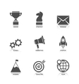 Start Up Icons with Reflection vector image