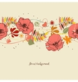 Flowers background Autumn leaves and foliage vector image