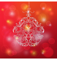 Christmas Ball made from Vintage Ornate Elements vector image vector image