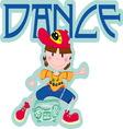 DANCE BOY vector image