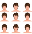Man head emotions portraits set vector image